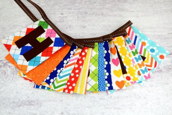 EcoFriendly Reusable HAPPY BIRTHDAY Fabric by LittleBirdsBoutique,
