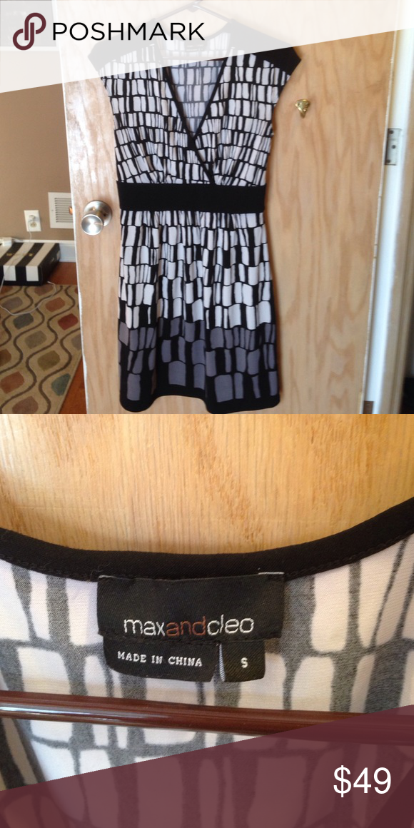 Max and Cleo black and white dress size S Like new Max and