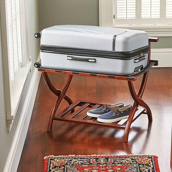 Improvements Deluxe High Back Luggage Rack (€89) Liked On