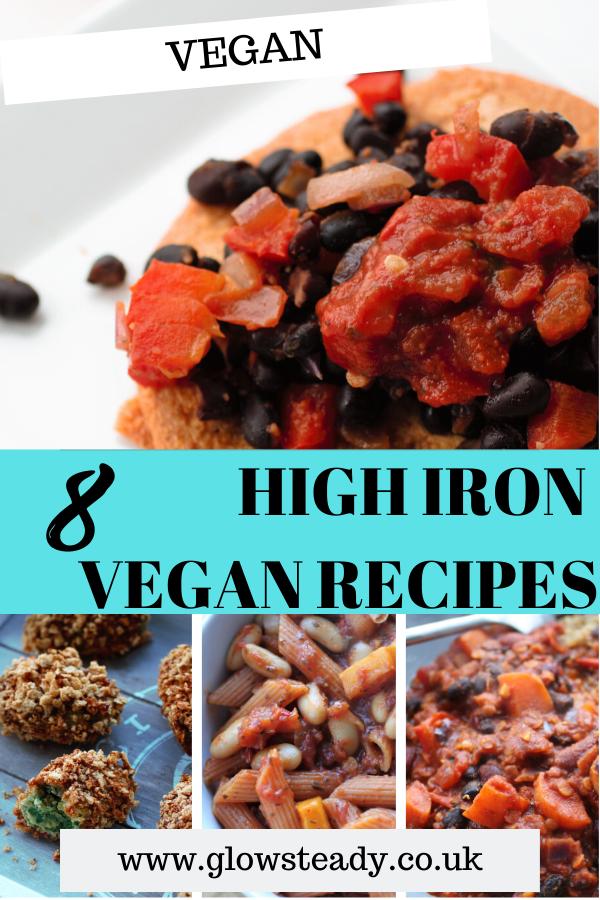 High Iron Vegan Recipes Archives Glow Steady in 2020