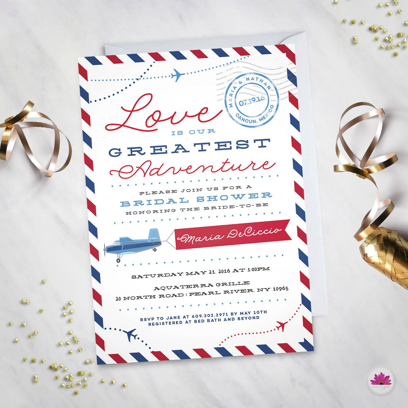 Love is our greatest adventure– Bridal Shower Invitation (Digital ...