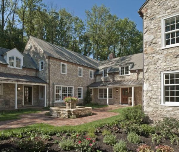 a historic stone farmhouse in pennsylvania originally built in 1780 and meticulously renovated and expanded - Stone Farmhouse Exteriors