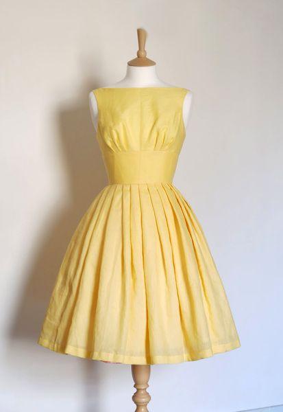 Zitronengelb tiffany Kleid | dresses | Pinterest | Lemon yellow ...