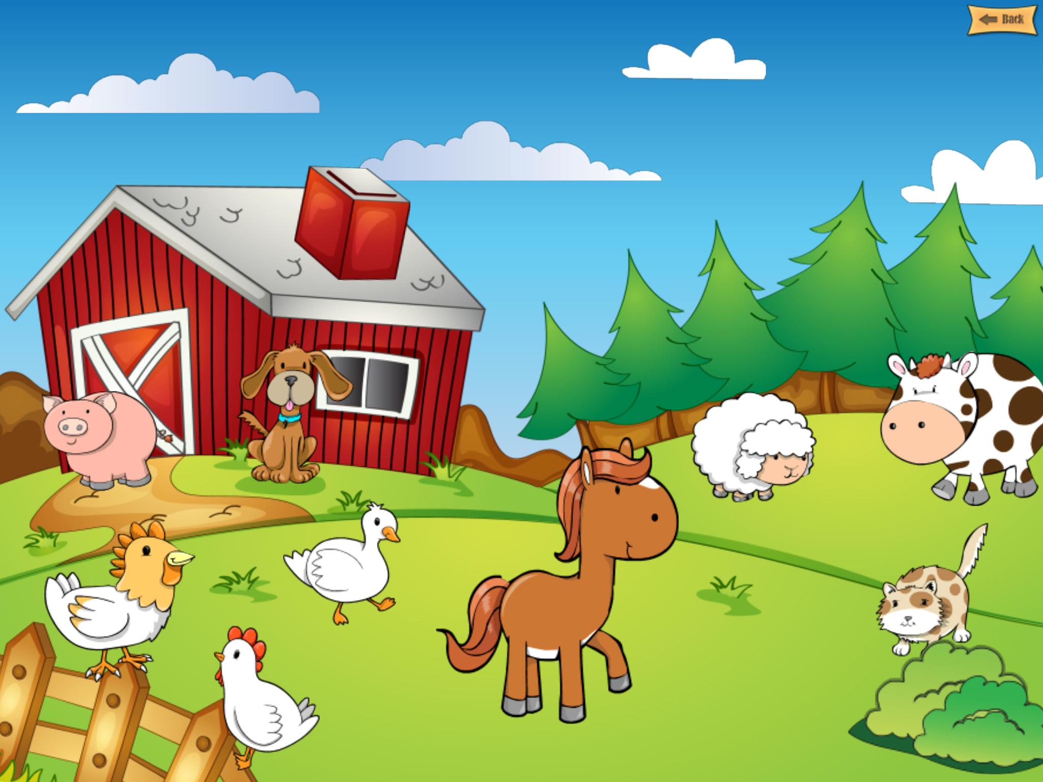 Resultado de imagen para farm scene wallpaper for kids fattoria