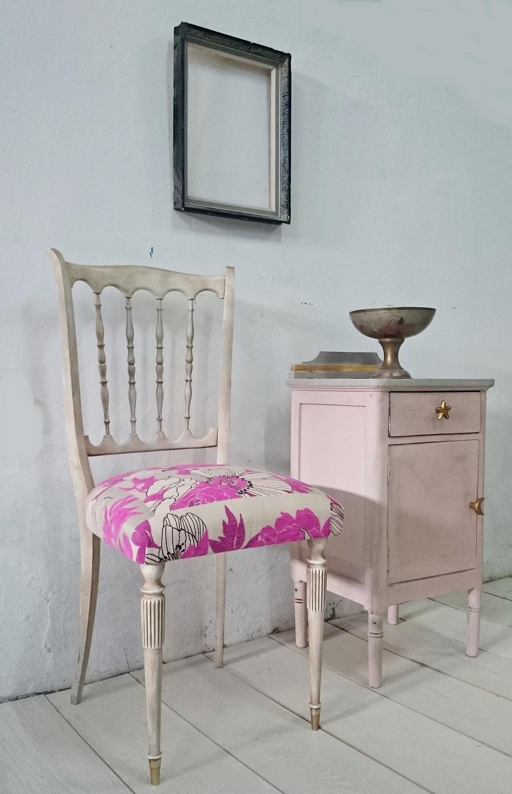 silla de palilleria en blanco envejecido   tienda Bohemian&Chic ...