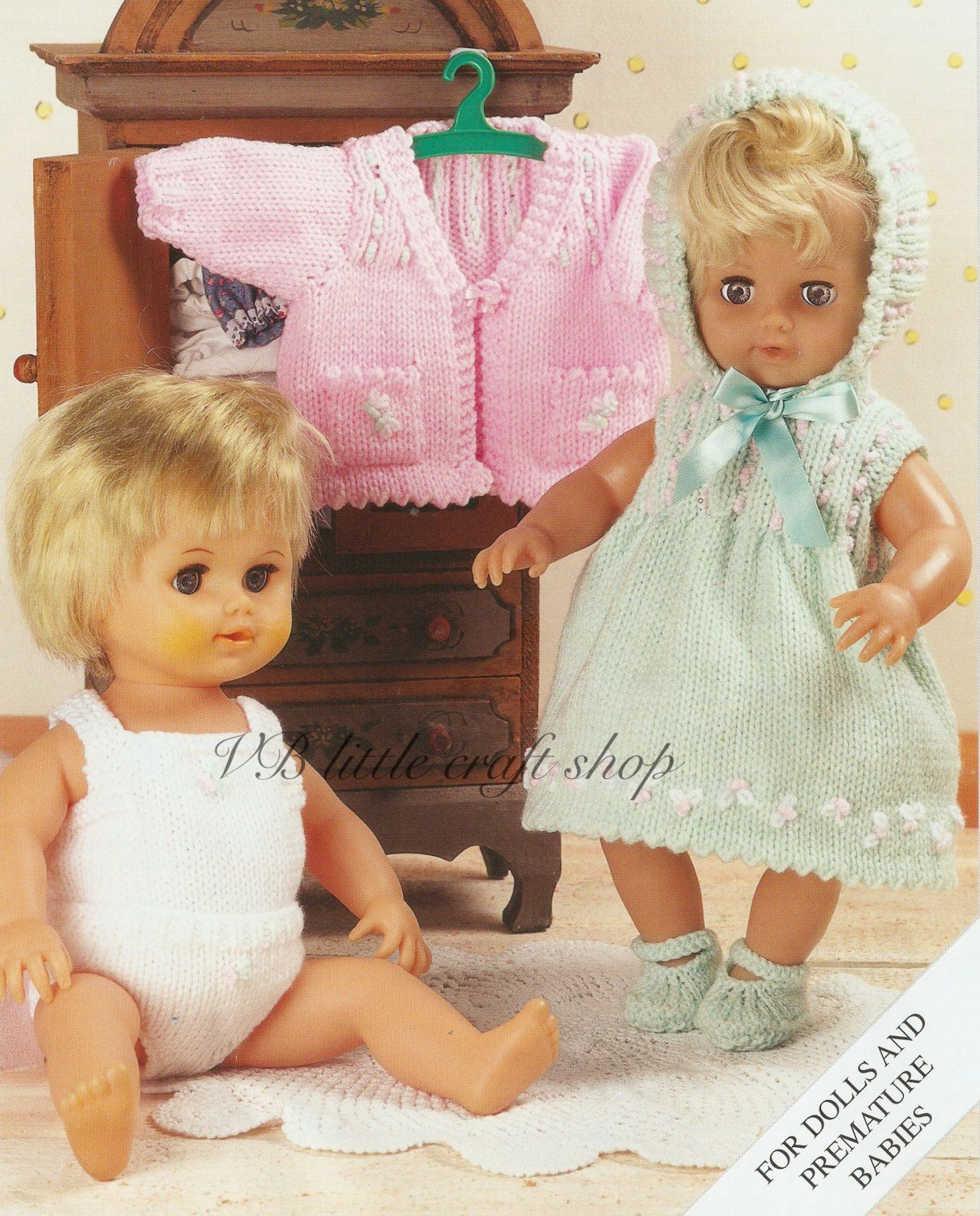 Doll\'s clothes knitting pattern. Instant PDF download! by ...