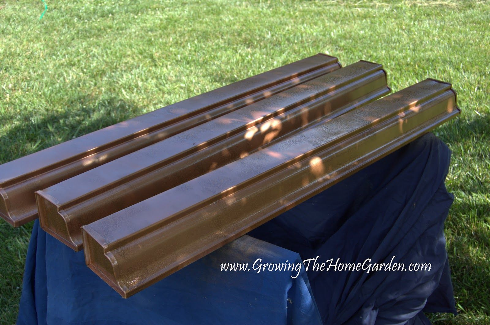 Painted To Look Like Copper Gutters Gutters Vertical Garden Downspout