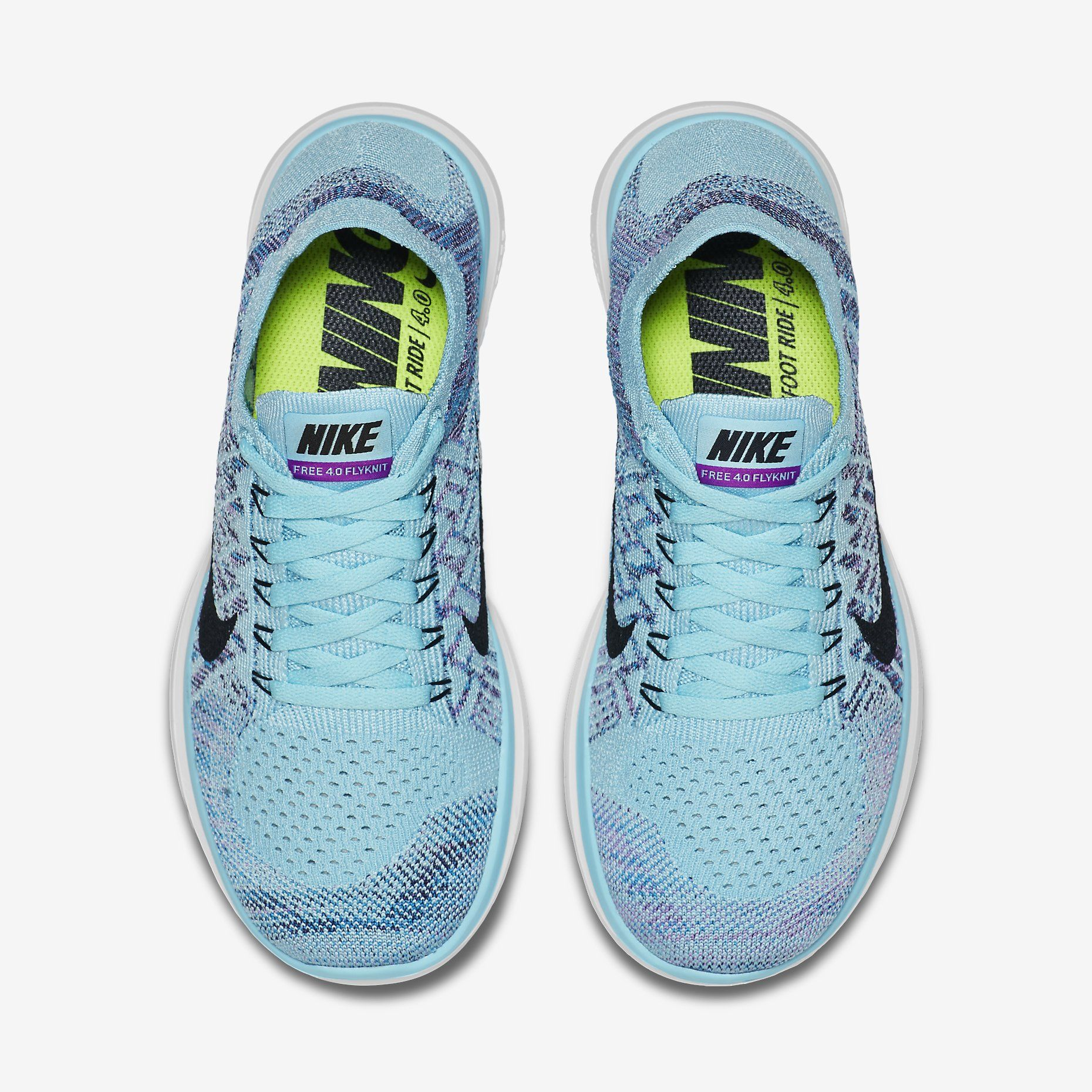0b7b4e2ee281e Nike Free 4.0 Flyknit Copa Blue Lagoon Grand Purple Black  120 ...
