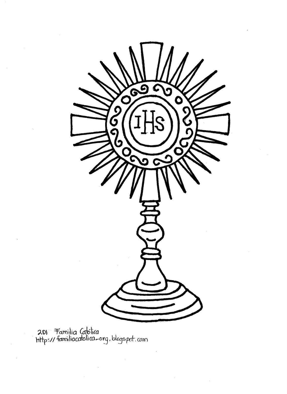 Catholic Monstrance Coloring Catholic Coloring Catholic Symbols