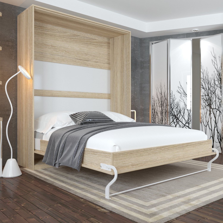 Smartbett Wardrobe Bed Vertical Oak Sonoma Bed With Pneumatic