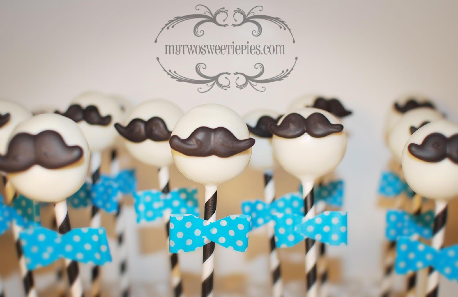 Mustache Baby Shower Cake Pops Baby Shower Pinterest Baby