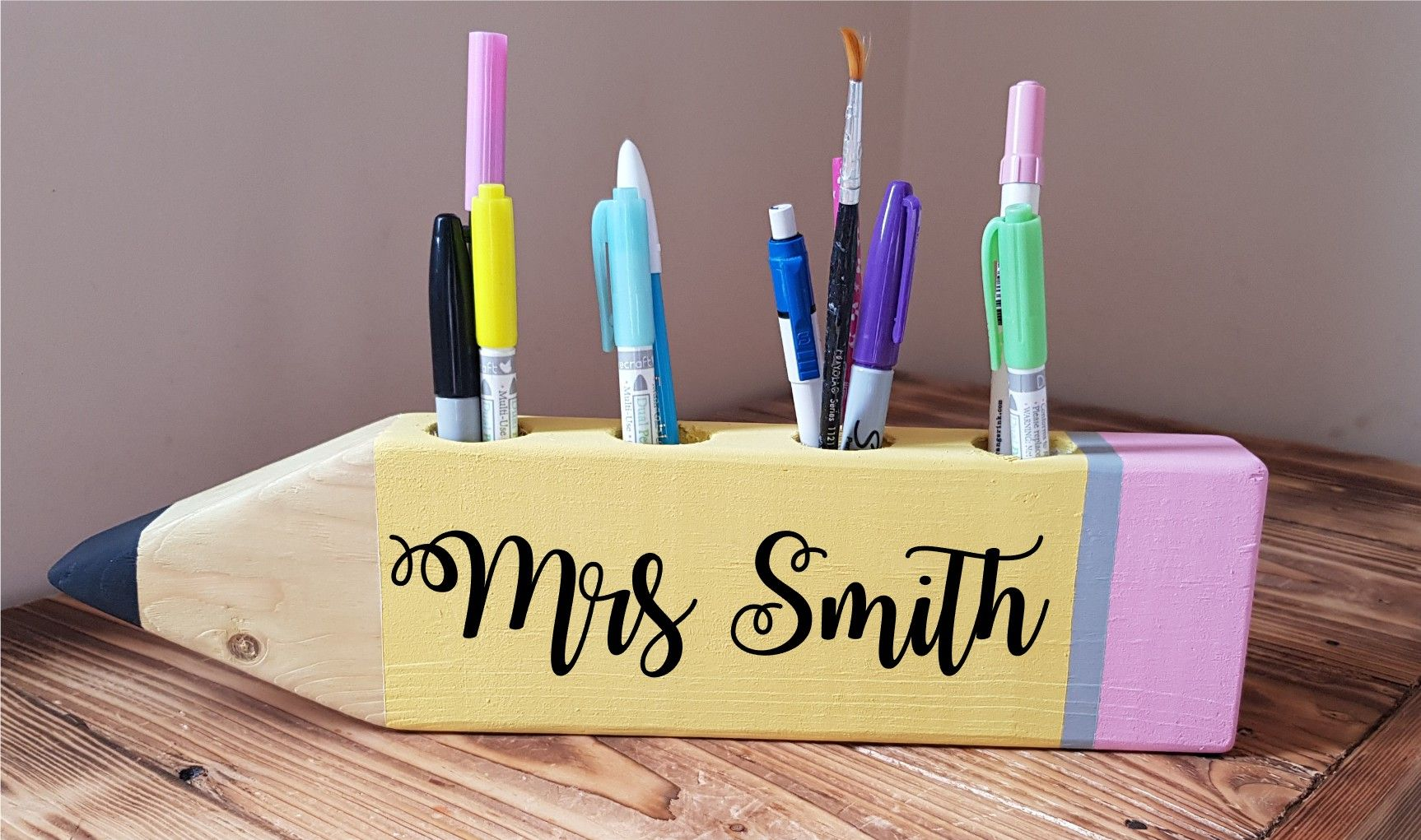 Pencil Holder Personalised Teacher Gift Personalized Teacher