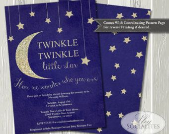 Popular items for star baby shower on Etsy Moon and Stars Baby