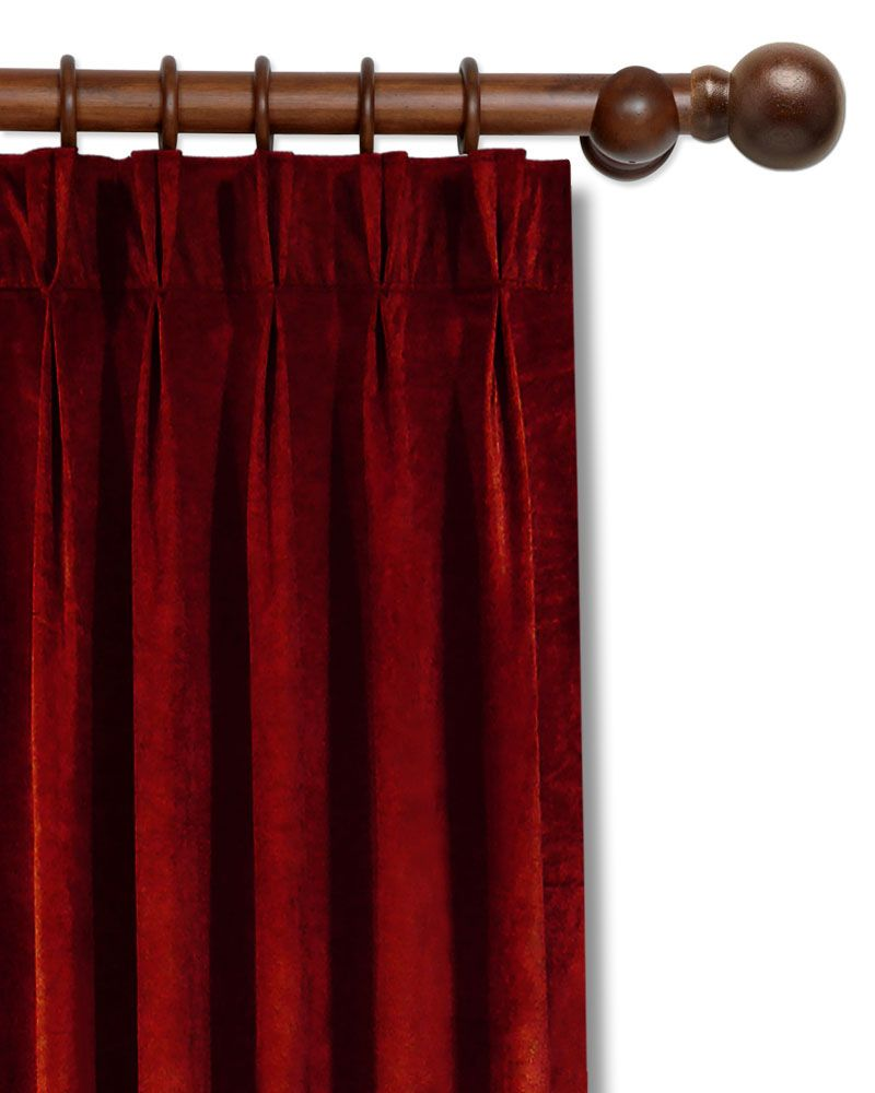 Samtvorhang Rot Samtvorhang Vorhang Curtains Home Decor Und Decor