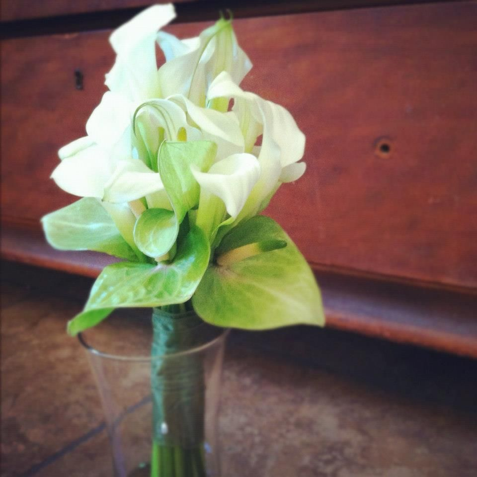 Calla Lily and Anthurium Bouquet