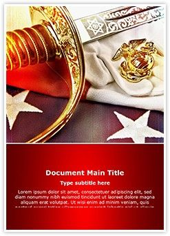 marine corps word document template is one of the best word, Modern powerpoint