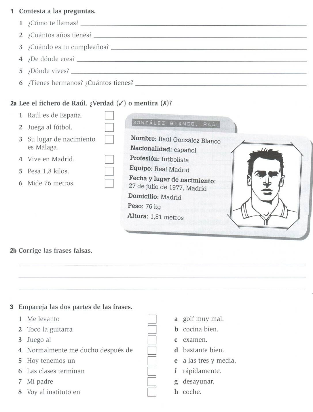 Cosy Personal Description Worksheets About Homework