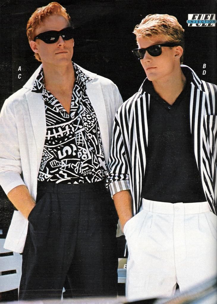 This Is An Example Of Men S Fashion In The 80s With Bold Prints