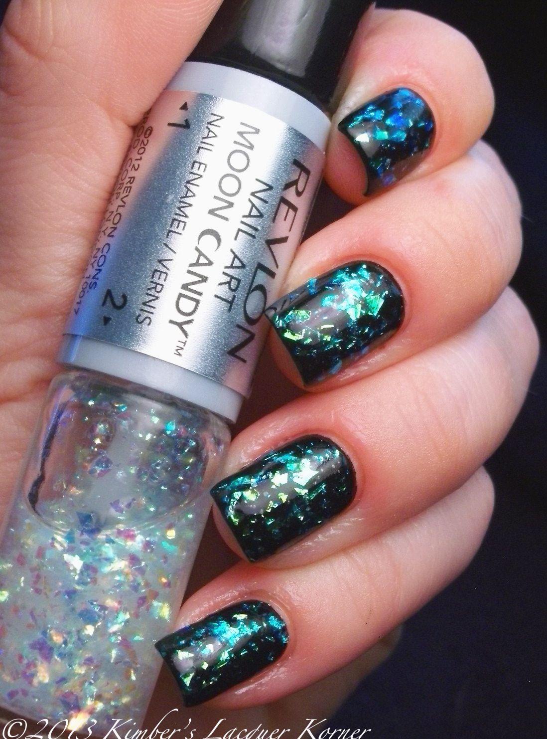 Revlon Moon Candy in Moon Dust :: Black creme w/ iridescent flakie ...