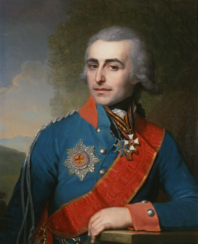 Portrait Of General Adjutant Count Pyotr Tolstoy By Vladimir Borovikovsky1799 Portrait Classic Portraits Vladimir