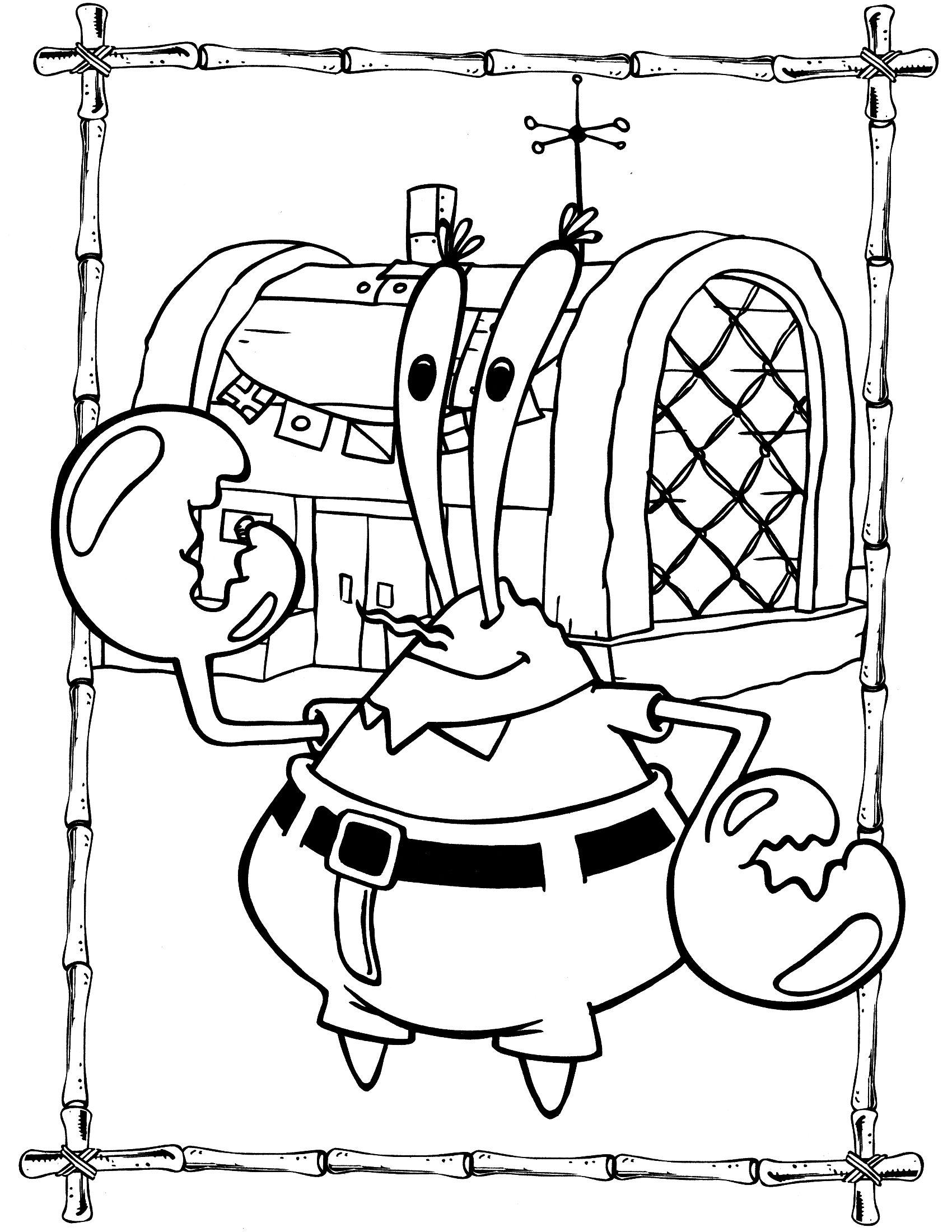 Spongebob Coloring Page 92