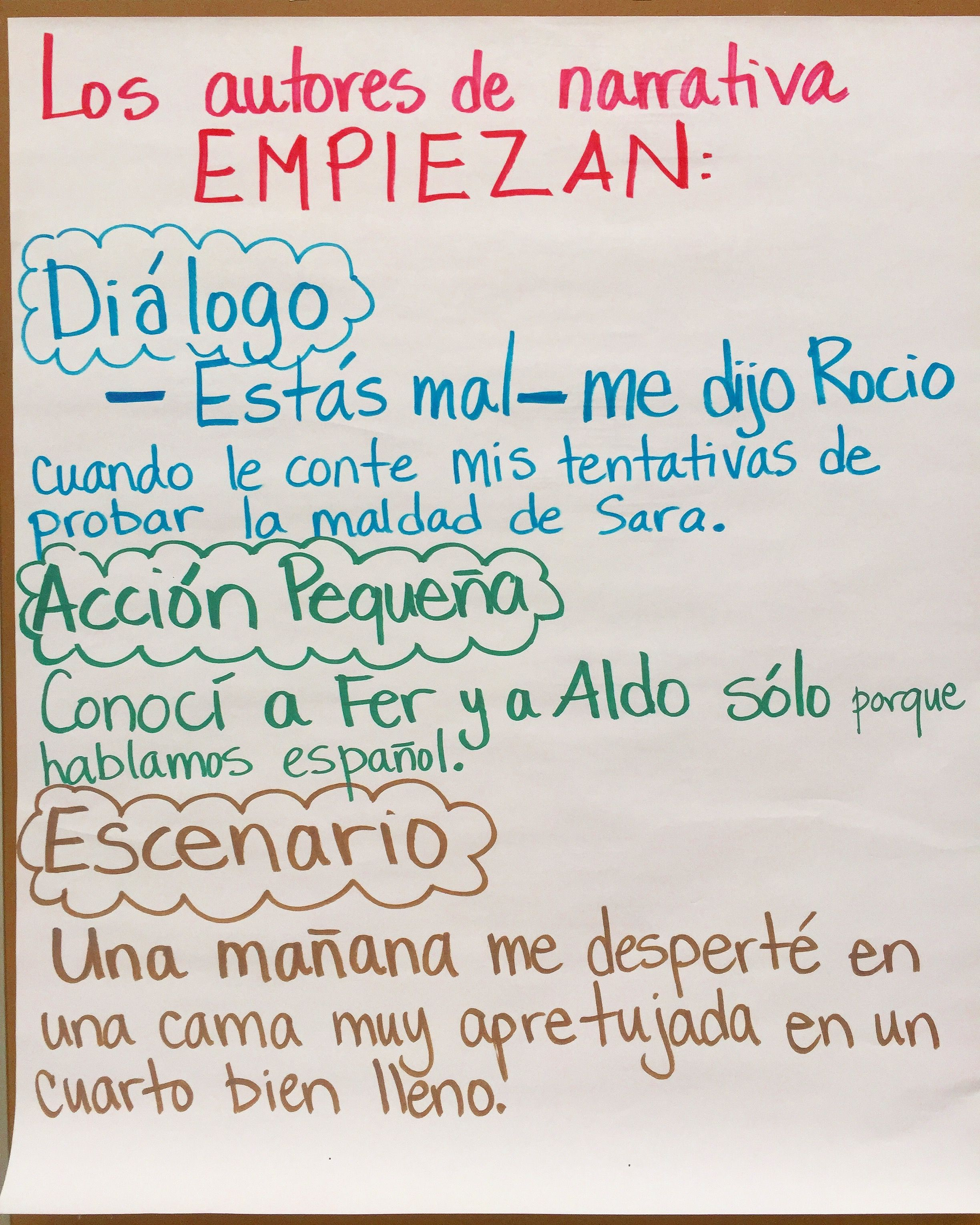 Trying out different beginnings/Experimentando con diferentes tipos de comienzos.
