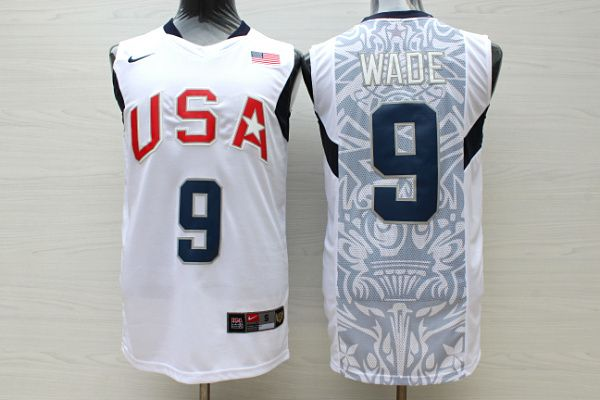 sale retailer efcf0 b8427 9 Wade 2008 Olympic USA Team jersey white | Wholeasale ...