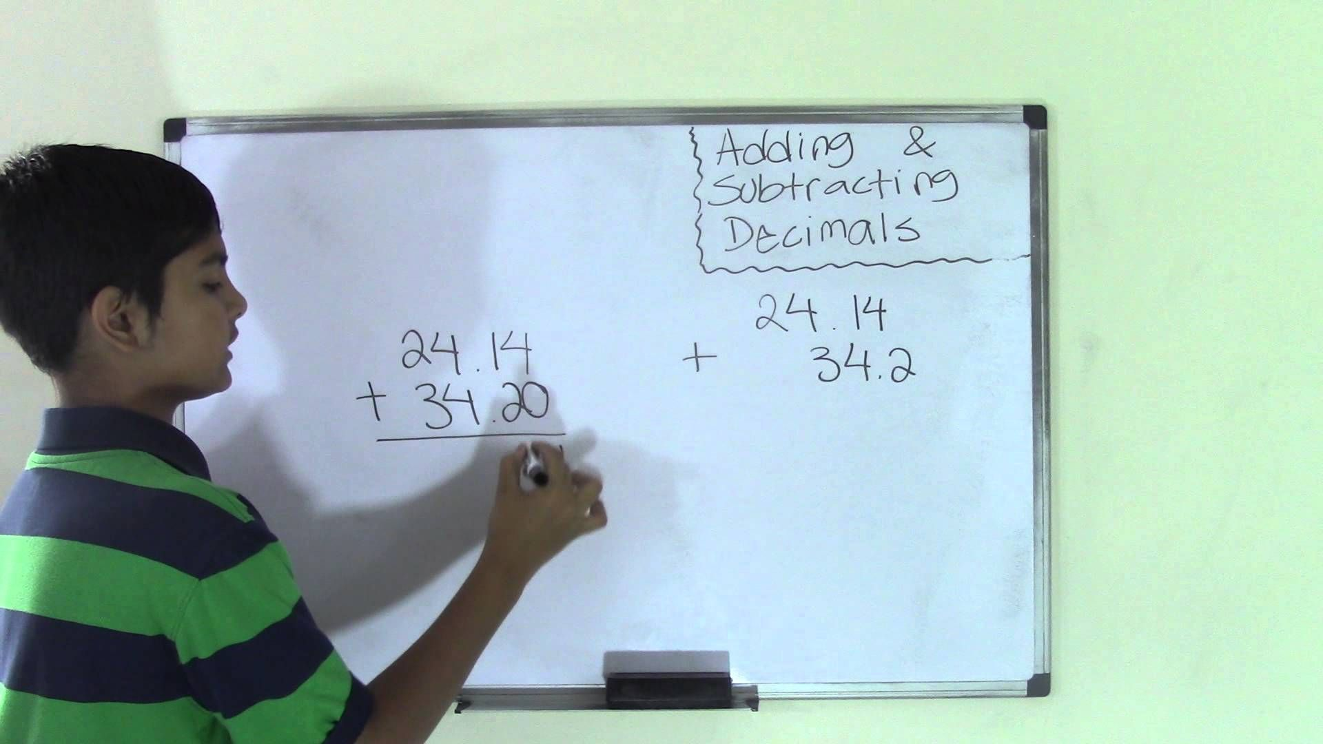 6th Grade Math Adding And Subtracting Decimals
