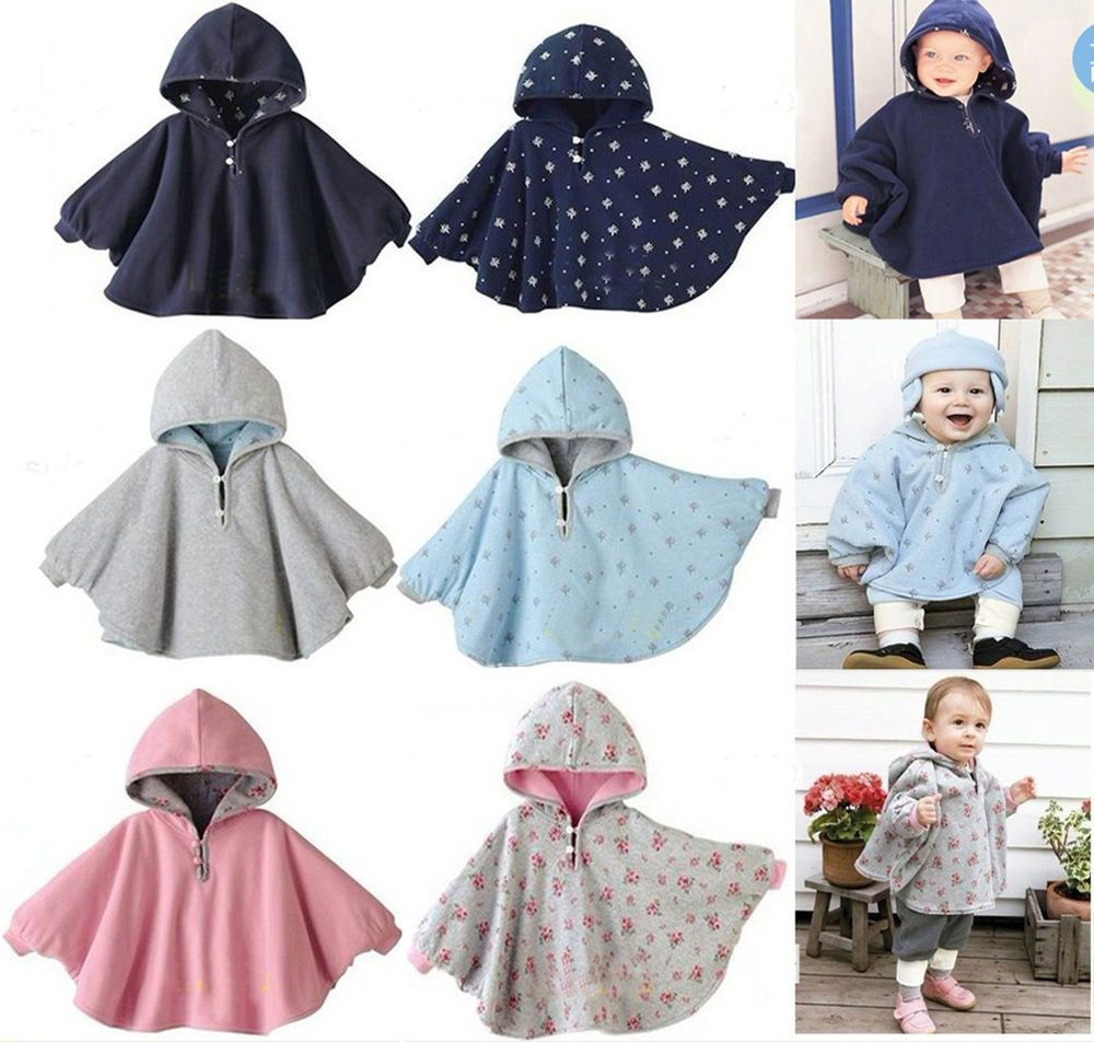 Kid Baby Girl Toddler Hoodie Cloak Poncho Wool Winter Outerwear Coat Jacket Suit