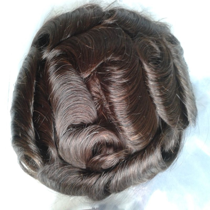122.55$  Buy here - http://aliyna.worldwells.pw/go.php?t=32737965478 - 8x10 Swiss Lace Men Toupee Human Hair Toppers Good Quality Men's Hair Systems Pieces Natural Looking  122.55$