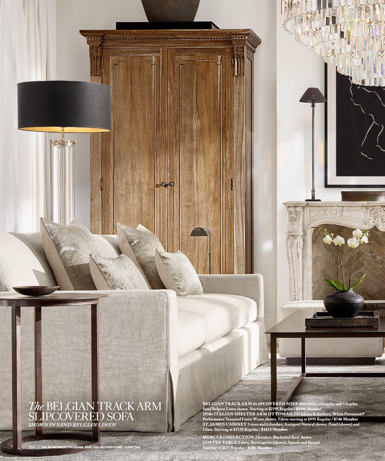 Rh Source Books Rh Interiors 396 Living Room Designs House Interior Home Decor