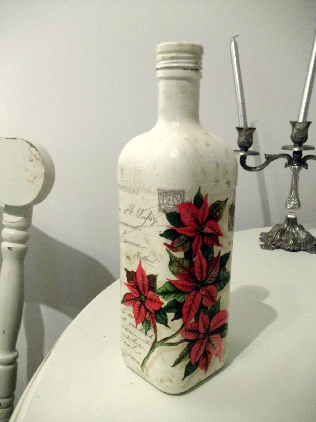 Ideas To Decorate Glass Bottles Dscf8171001 1200×1600 Pixels  Decoupage  Ideas