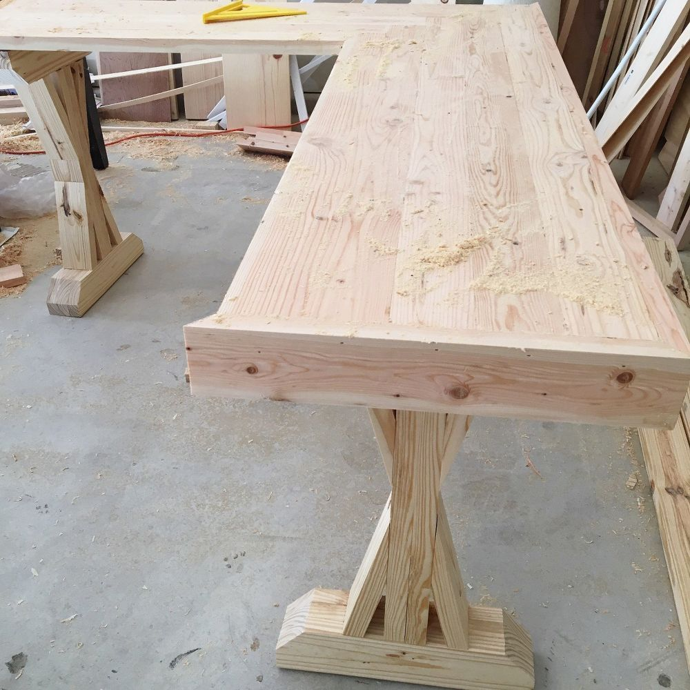 DIY LShaped Farmhouse Wood Desk + Office Makeover Diy