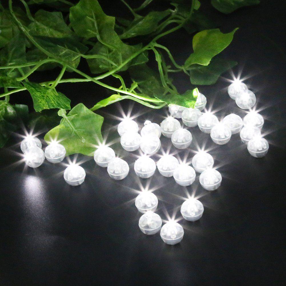 Wedding decoration ideas balloons  Accmor pcs LED Mini Round Ball Balloon Light Long Standby Time
