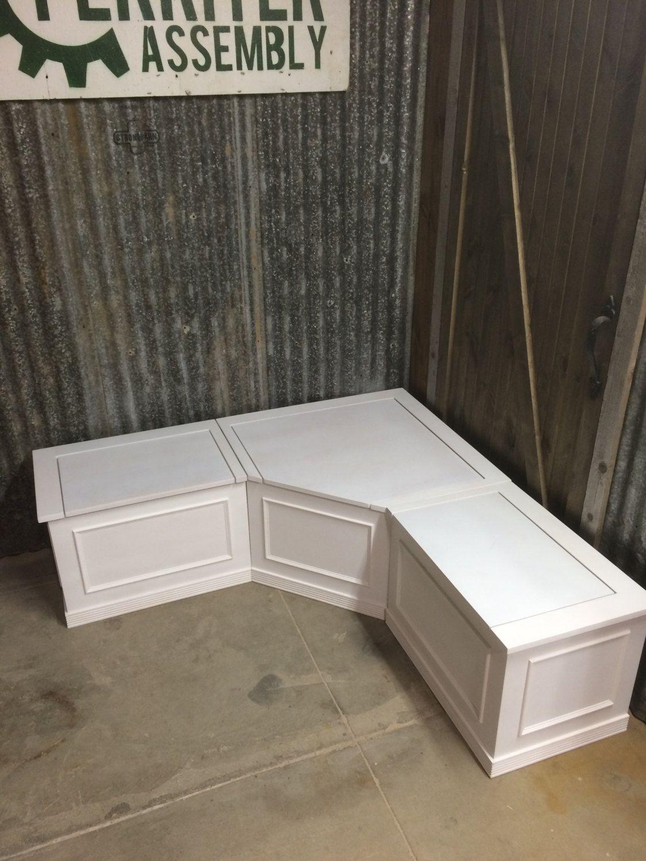 banquette corner bench seat with storage by prairiewoodworking rh pinterest com