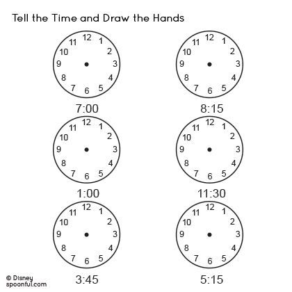 Tell The Time Worksheet And Draw The Hands | Teacher Resources