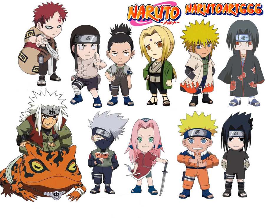 Naruto Shippuden Chibi Characters
