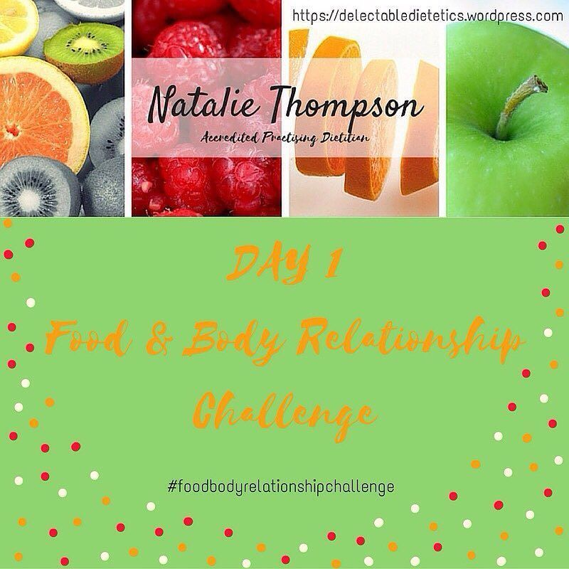 It's Day 1 of the Food & Body Relationship Challenge!! We are talking about normal eating today. Join us http://wp.me/p6LHEX-KV #delectabledietetics