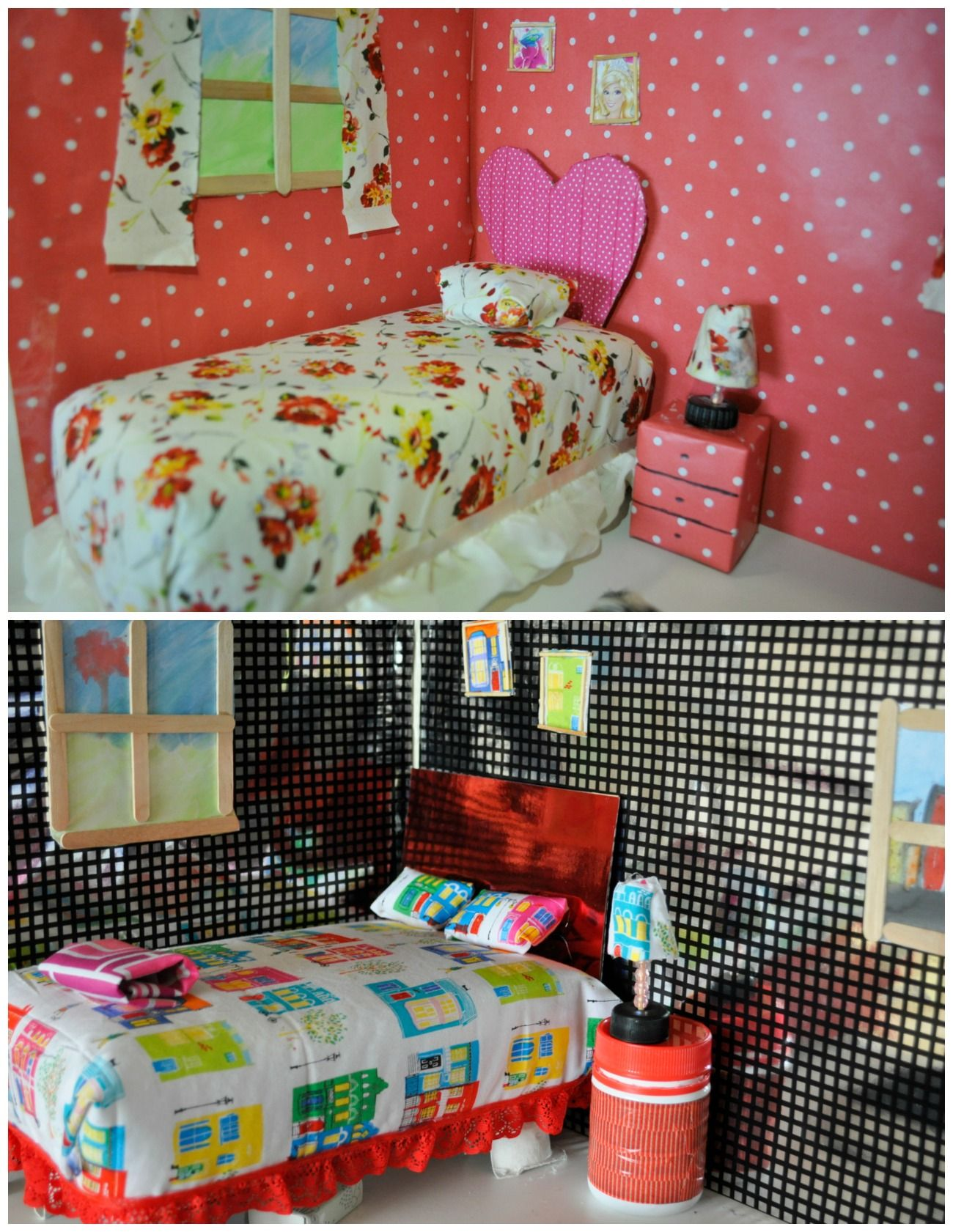 Barbie Bedroom In A Box: How To Make A Barbie Bed Out Of A Recycled Box