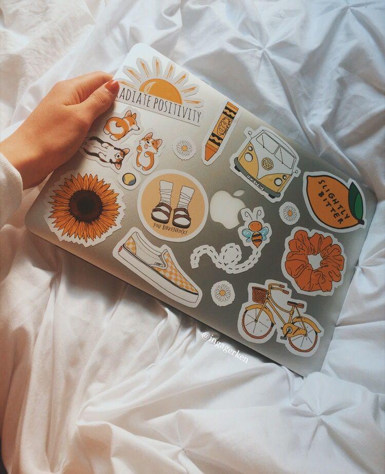 VSCO MacBook Sticker Tumblr Yellow Macbook case stickers