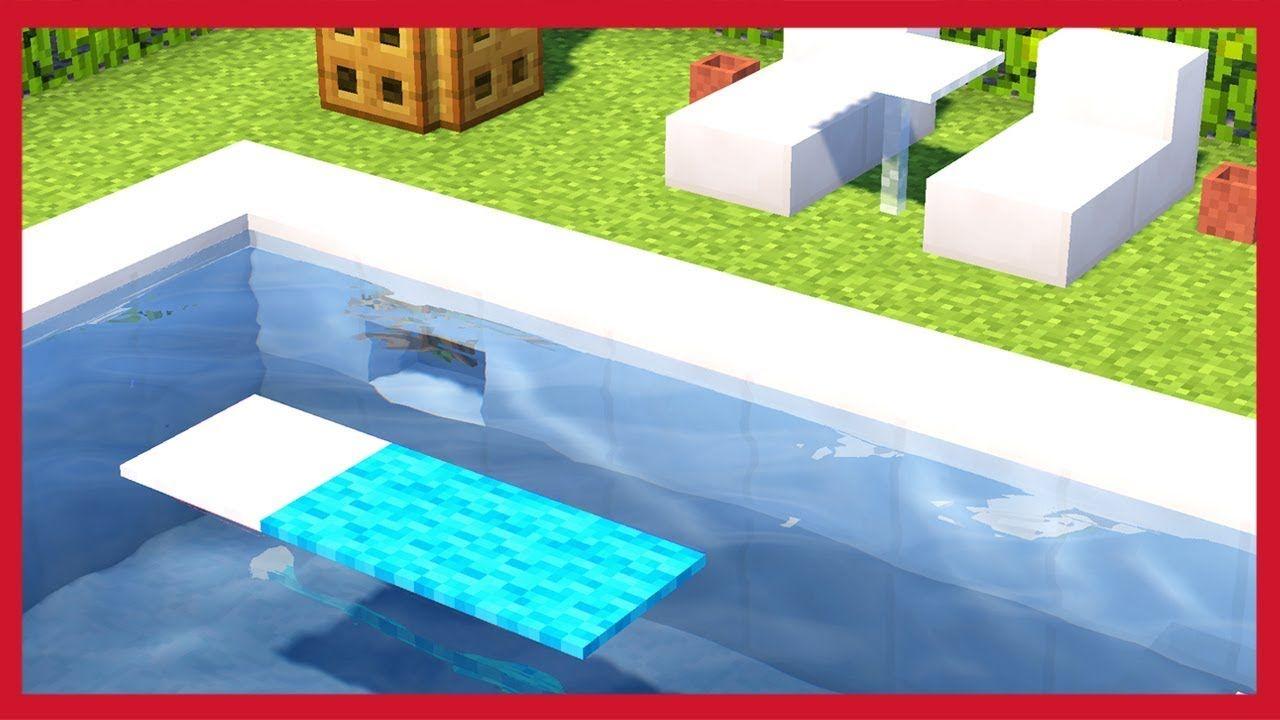 Minecraft Come Fare Una Piscina Youtube Minecraft Minecraft