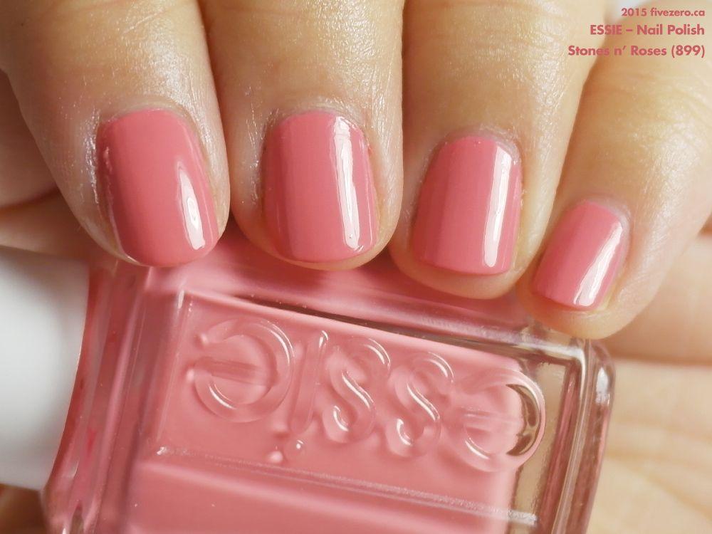 Essie Nail Polish in Stones n\' Roses (swatch by fivezero.ca) [pink ...