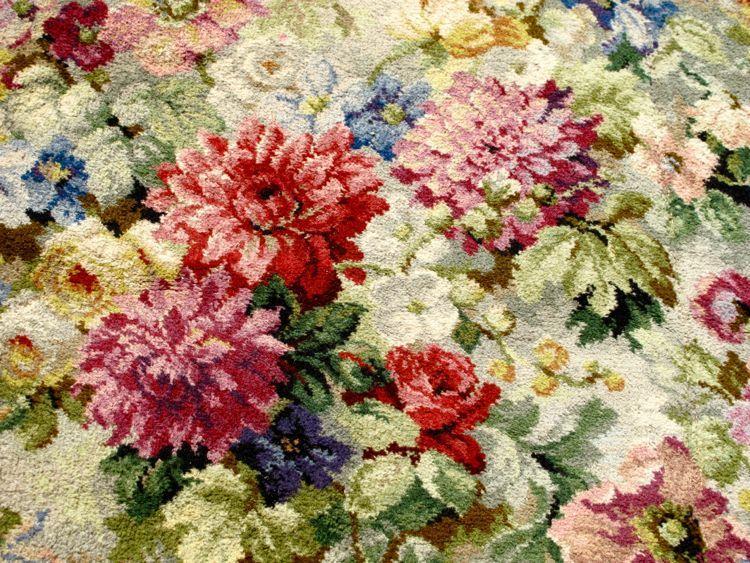 Details About Stunning Vintage Axminster Floral Carpet