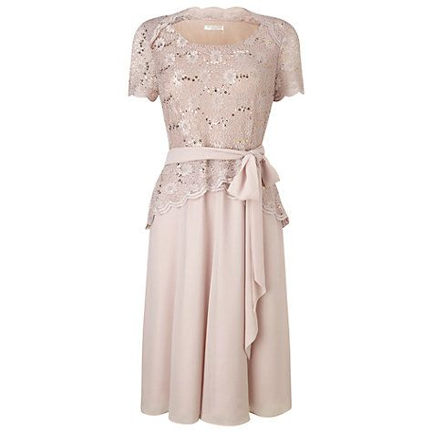ed89eacb8e4 Buy Jacques Vert Petite Lace Bodice Chiffon Dress, Mid Neutral Online at  johnlewis.com