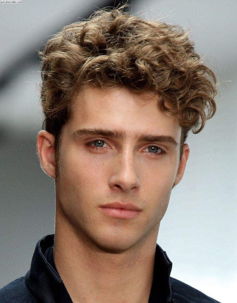 Sleek Curly Hair Undercut Men