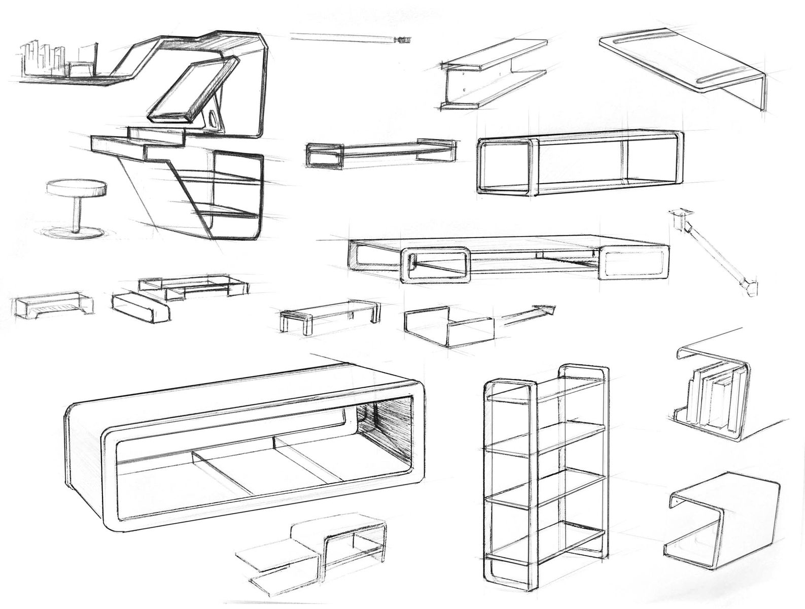Furniture design sketches google search industrial for Multi generational product plan