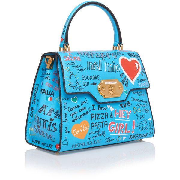1b7cdb0186a7 Dolce   Gabbana Large Graffiti Welcome Bag (4