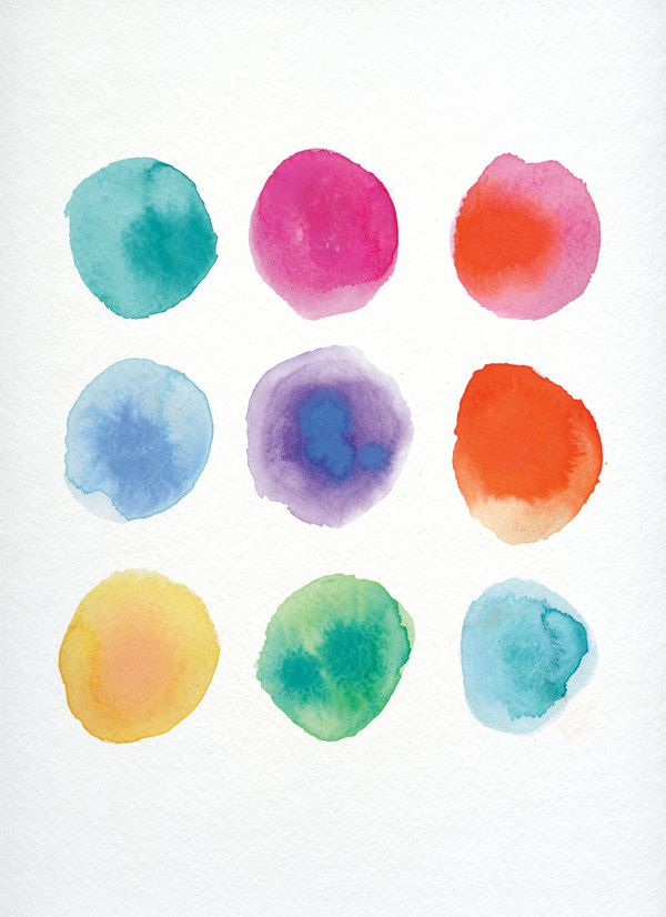 Free Watercolor Textures By Dana Goldberg Via Behance