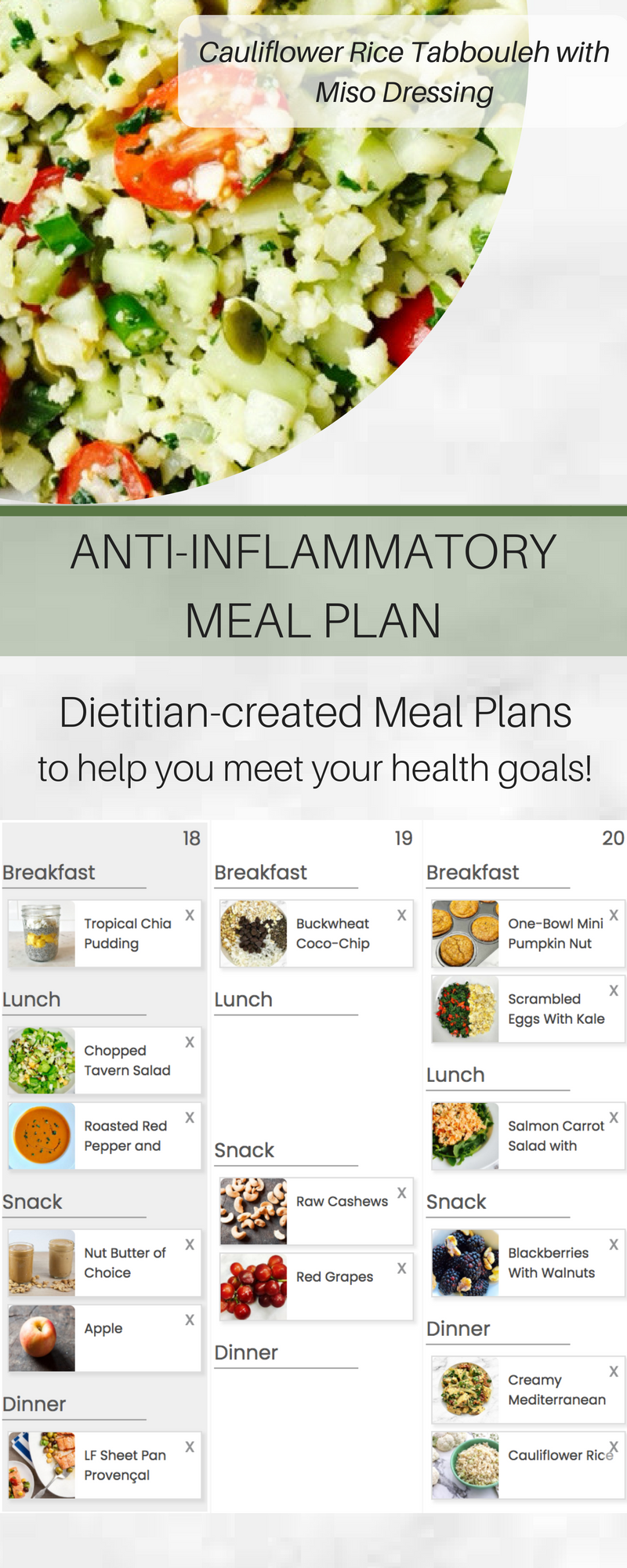 Registered dietitian diet plans