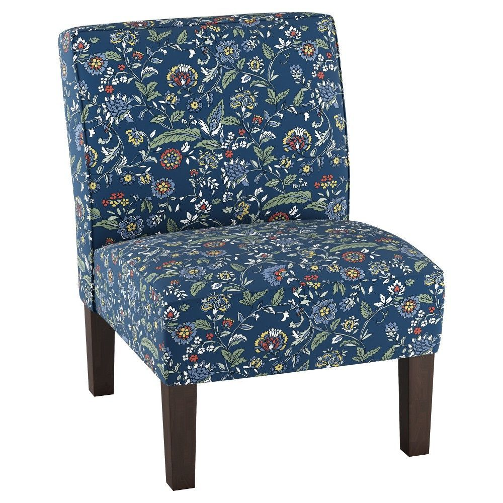 Best Threshold Burke Slipper Chair Bandana Blue Floral 400 x 300